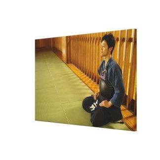 Portrait of a Kendo Fencer Canvas Print