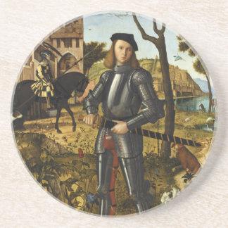 Portrait of a Knight by Vittore Carpaccio Coasters
