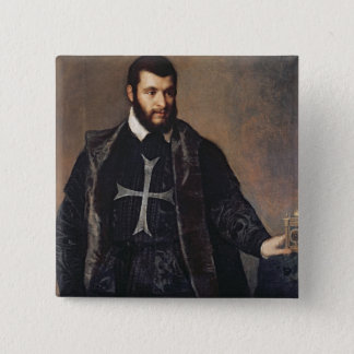 Portrait of a Knight of the Order of Malta 15 Cm Square Badge