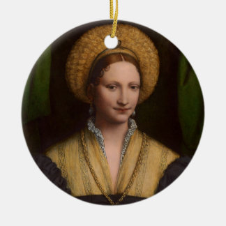 Portrait of a lady, 1520-1525 (oil on panel) christmas ornament