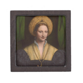 Portrait of a lady, 1520-1525 (oil on panel) premium trinket box