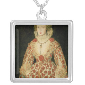 Portrait of a Lady, 1619 Silver Plated Necklace