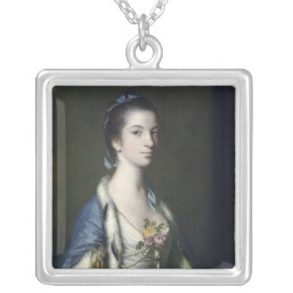 Portrait of a Lady, 1758 Silver Plated Necklace