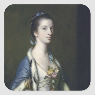 Portrait of a Lady, 1758 Square Sticker