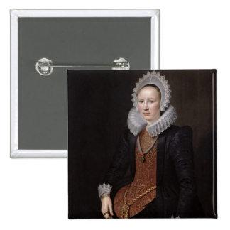 Portrait of a Lady aged 29, 1615 15 Cm Square Badge
