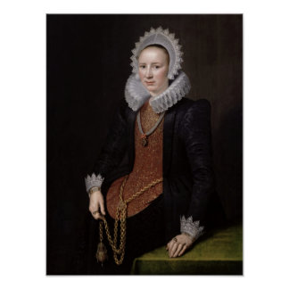 Portrait of a Lady aged 29, 1615 Poster