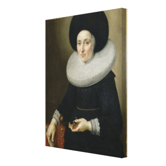 Portrait of a Lady, aged 47, 1647 (oil on canvas) Gallery Wrapped Canvas