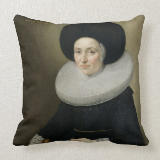Portrait of a Lady, aged 47, 1647 (oil on canvas) Throw Pillow