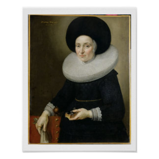 Portrait of a Lady, aged 47, 1647 (oil on canvas) Posters