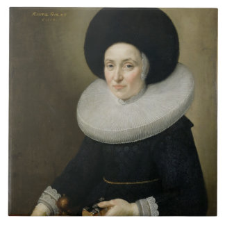 Portrait of a Lady, aged 47, 1647 (oil on canvas) Tiles