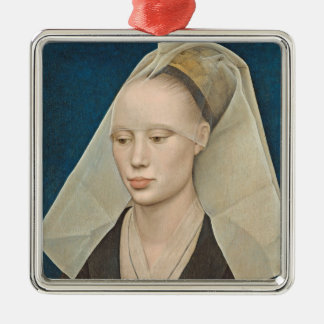Portrait of a Lady, c.1460 (oil on panel) Christmas Ornament