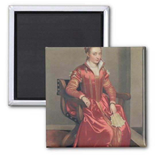 Portrait of a Lady, c.1555-60 Square Magnet