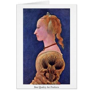 Portrait Of A Lady (Francesca Galli?) Greeting Card