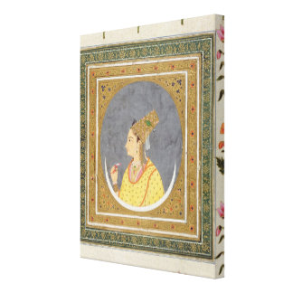 Portrait of a lady holding a lotus petal, from the canvas print