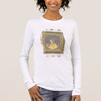 Portrait of a lady holding a lotus petal, from the long sleeve T-Shirt