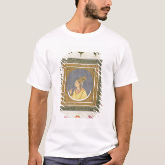 Portrait of a lady holding a lotus petal, from the T-Shirt