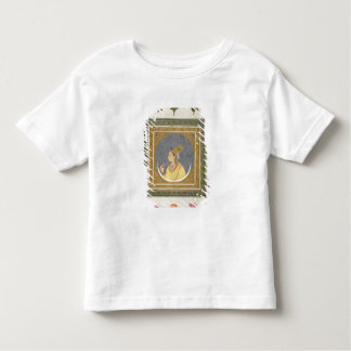 Portrait of a lady holding a lotus petal, from the toddler T-Shirt