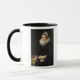 Portrait of a Lady in a Black Dress Mug