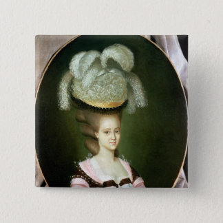 Portrait of a Lady in a Hat 15 Cm Square Badge