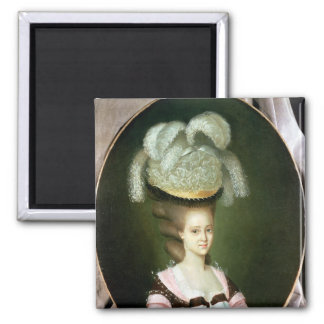 Portrait of a Lady in a Hat Magnet