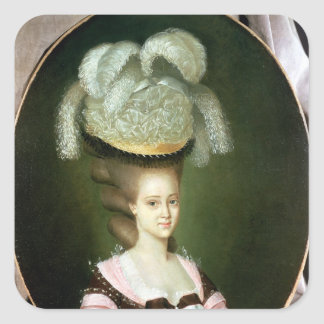 Portrait of a Lady in a Hat Square Sticker