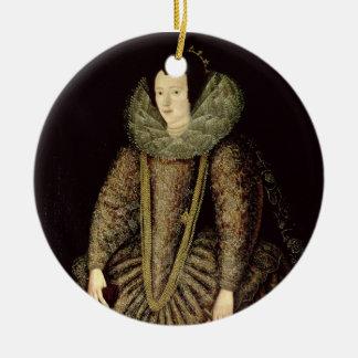 Portrait of a Lady in Elizabethan Dress Christmas Ornament