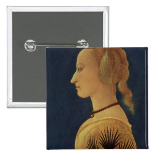 Portrait of a Lady in Yellow, c.1465 15 Cm Square Badge