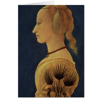 Portrait of a Lady in Yellow, c.1465 Greeting Card