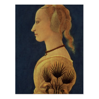 Portrait of a Lady in Yellow, c.1465 Postcard