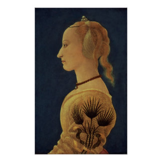 Portrait of a Lady in Yellow, c.1465 Poster