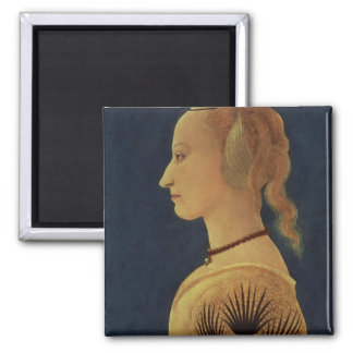 Portrait of a Lady in Yellow, c.1465 Square Magnet