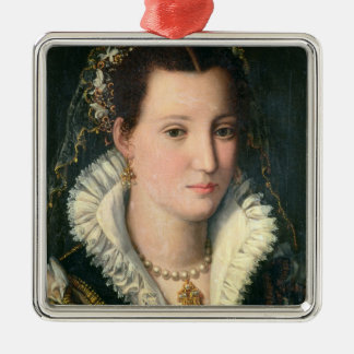 Portrait of a Lady (oil on panel) 2 Christmas Ornament
