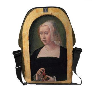 Portrait of a lady panel courier bag