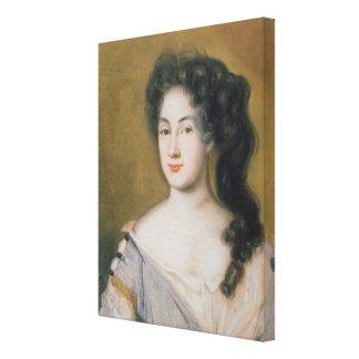 Portrait of a Lady (pastel on paper) Canvas Print