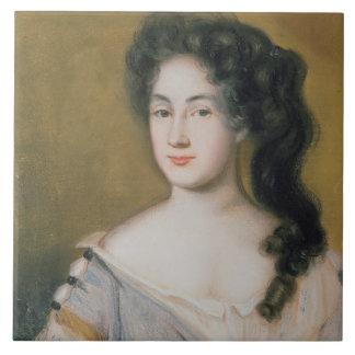 Portrait of a Lady (pastel on paper) Tile