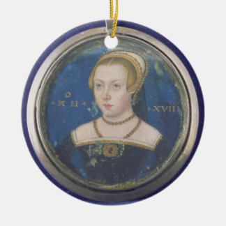 Portrait of a Lady, possibly Lady Jane Grey, c.154 Christmas Ornament