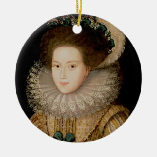 Portrait of a Lady, possibly Mary Queen of Scots ( Round Ceramic Decoration