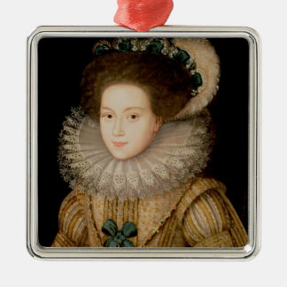Portrait of a Lady, possibly Mary Queen of Scots ( Silver-Colored Square Decoration