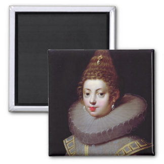 Portrait of a Lady, said to be Marguerite de Valoi Square Magnet