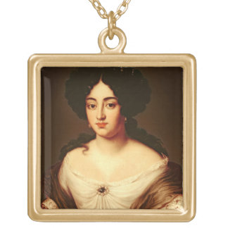 Portrait of a Lady, said to be Marie-Anne Mancini Gold Plated Necklace