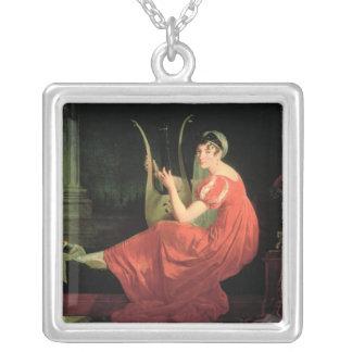 Portrait of a Lady Square Pendant Necklace