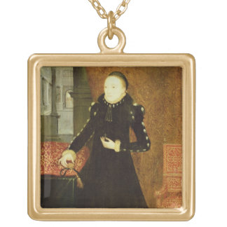 Portrait of a Lady, thought to be Katherine, Duche Gold Plated Necklace