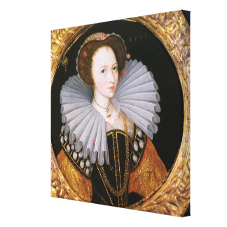 Portrait of a Lady with a Large Ruff Canvas Print