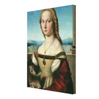Portrait of a Lady with a Unicorn, c.1505-6 Canvas Print