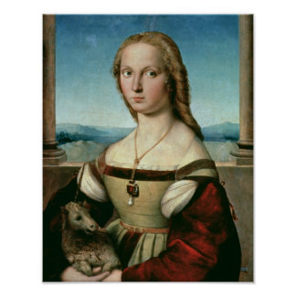 Portrait of a Lady with a Unicorn, c.1505-6 Poster