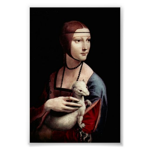 Portrait of a Lady with Ermine by Da