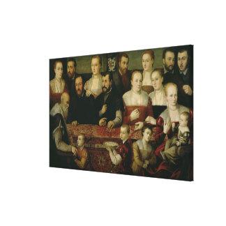 Portrait of a Large Family Canvas Print