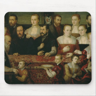 Portrait of a Large Family Mouse Mat