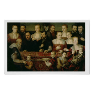 Portrait of a Large Family Posters