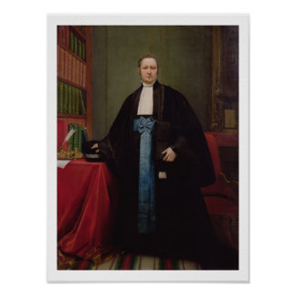 Portrait of a Lawyer in his Library, 1852 (oil on Poster